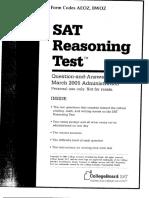 SAT Test 2005-03