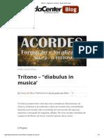 Trítono - _diabulus in Musica' - Blog TeclaCenter