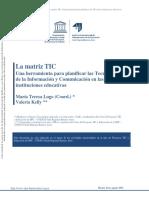 Matriz TIC, una herramienta para planificar las TIC en las instituciones educativas