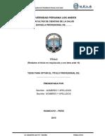 Estructuta de Informe de Tesis 2015