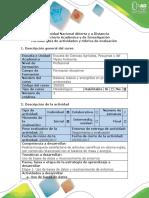 Guía y Rúbrica de Actividades Etapa 1 - Introducción Al Balance de Masa y Energía