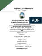 Implementación de Una Infraestructura Tecnológica Con Vlan Para La Seguridad de La Información en La Municipalidad Distrital de Pampas - 2016
