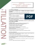 Programme Distill-t Public 2017