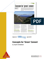 Concepts for Green Cement