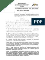 Regulamento Para Emissao de Certificados - UTFPR