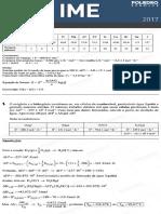 IME 2017 - Química - 2ª Fase