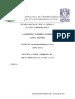 Hidrólisis de acetato de sodio