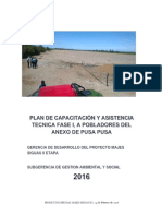 Plan de Capacitación y Asistencia Tecnica
