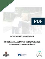Programa Acompanhante de Saúde Da Pessoa Com Deficiência