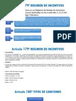 Artículo 179º Regimen de Incentivos