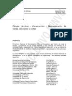 Vistas y Cortes Nch2363-1996