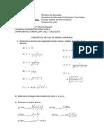 Lista de Funções de Várias Variáveis