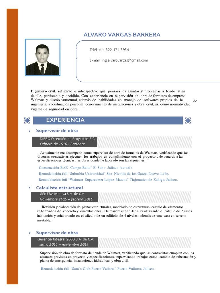 CV Alvaro Vargas Barrera