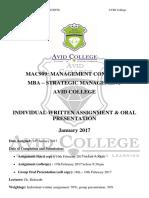 ASSIGNMENT + PRESENTATION - Management Concept