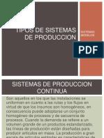 Tipos de Sistemas de Produccion Ppt