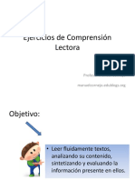 Ejercicios de Comprension Lectora