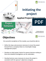 Project Management - Initiating the Project