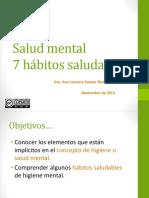 7 Hábitos Saludables de Salud Mental UNACH 2016