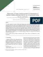 Aase1997Optimization of Sample Cleanup Procedure for Determination Of