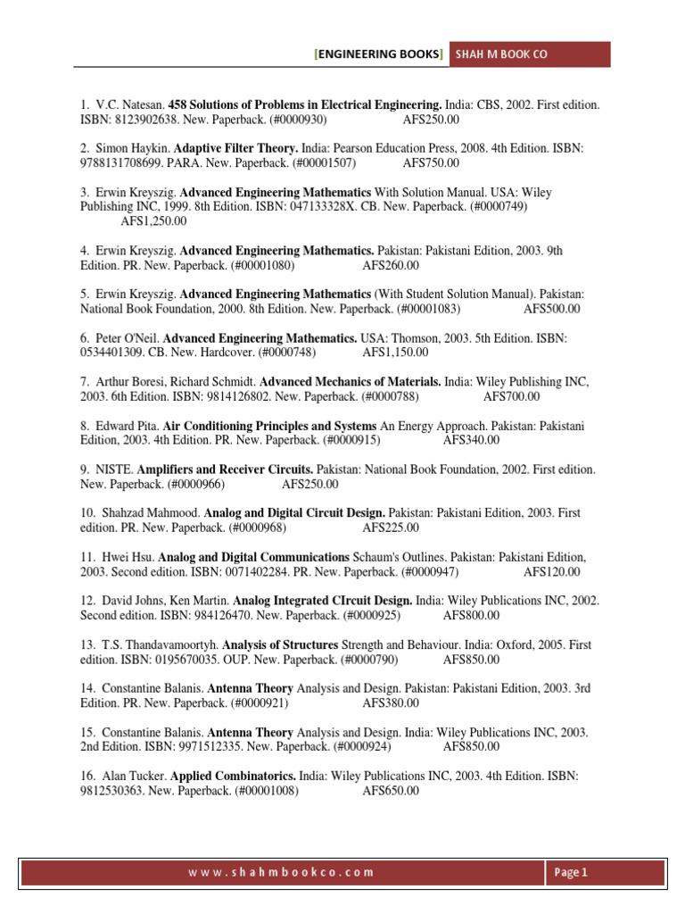engineering books shah m book co pdf