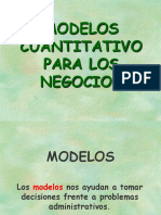 Analisis Modelos Cuantitativo Para Los Negocios