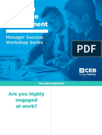 CEB - Manager Success Workshop - Boosting Employee Engagement - Presentation