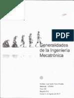 Generalidades de La Ingeniería Mecatrónica
