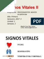 Clase 2 Signos Vitales 2017