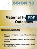XVI Maternal Health Outcomes
