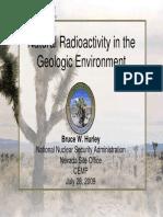 Hurley-Radioactivity Geologic Environ