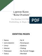Laporan Kasus Kista Ovarium