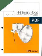 ITT American Electric Hi-Intensity Flood Series 83 Spec Sheet 2-79