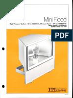 ITT American Electric Mini Flood Series 279 & 280 Spec Sheet 9-81