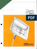ITT American Electric Quartz 500w Series 270 Spec Sheet 6-81