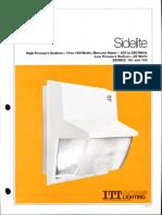 ITT American Electric Sidelite Series 181 & 182 Spec Sheet 4-81