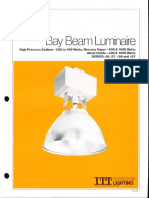 ITT American Electric Bay Beam Luminaire Series 56-57-156-157 Spec Sheet 9-81