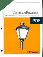ITT American Electric American Revolution Post Top Series 47 & 48 Spec Sheet 11-79