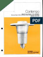 ITT American Electric Contempo Post Top Series 245 & 246 Spec Sheet 3-81