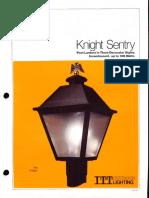 ITT American Electric Knight Sentry Post Top Spec Sheet 11-79