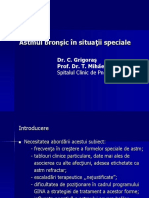 Astmul Bronsic in Situatii Speciale
