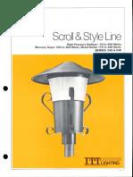 ITT American Electric Scroll & Style Line Post Top Series 245 & 246 Spec Sheet 3-81