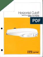 ITT American Electric Horizontal Cutoff Luminaire Series 13-14-25-26 Spec Sheet 10-81