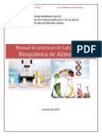 Manual Bioquimica de Alimentos 2017