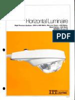 ITT American Electric Horizontal Luminaire Series 25 & 26 Spec Sheet 2-81