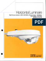 ITT American Electric Horizontal Luminaire Series 25 & 26 Spec Sheet 10-81