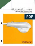 ITT American Electric Horizontal Luminaire Series 113 & 114 Spec Sheet 10-81