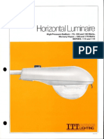 ITT American Electric Horizontal Luminaire Series 113 & 114 Spec Sheet 11-80