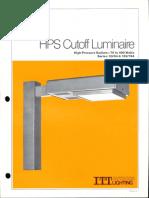 ITT American Electric HPS Cutoff Luminaire Series 53-54-153-154 Spec Sheet 5-80