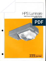 ITT American Electric HPS Luminaire Series 153 & 154 Spec Sheet 8-80
