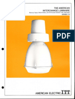 ITT American Electric Interchange Luminaire Series 710 Spec Sheet 6-72